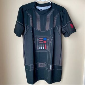 Under Armour Boys Darth Vader Heat Gear Shirt